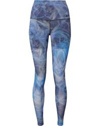 Nike - Power Printed Dri-fit Stretch Leggings - Lyst