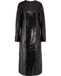 McQ - Sequined Tulle Midi Dress - Lyst