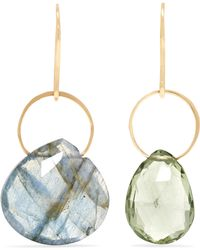 Melissa Joy Manning - 14-karat Gold, Labradorite And Amethyst Earrings - Lyst