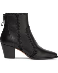 Alexandre Birman - Benta Whipstitched Leather Ankle Boots - Lyst