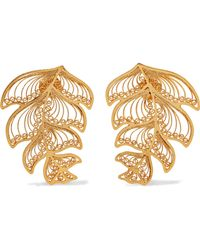 Mallarino - Erika Gold Vermeil Earrings - Lyst