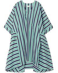 Fendi - Striped Cotton-poplin Kaftan - Lyst