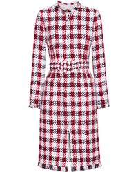 Oscar de la Renta - Fringed Cotton-blend Tweed Coat - Lyst