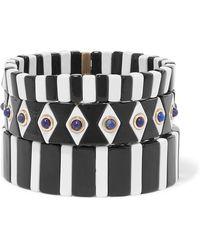 Roxanne Assoulin - Bistro Set Of Three Enamel And Lapis Bracelets - Lyst