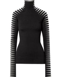 Haider Ackermann - Wool And Silk-blend Jacquard Turtleneck Sweater - Lyst