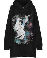 MM6 by Maison Martin Margiela - Hooded Printed Stretch-cotton Jersey Mini Dress - Lyst
