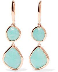 Monica Vinader - Siren Rose Gold Vermeil Amazonite Earrings - Lyst