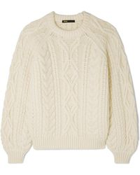 Maje - Cable-knit Jumper - Lyst