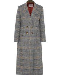 ALEXACHUNG - Checked Tweed Coat - Lyst