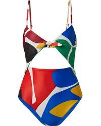 Mara Hoffman - Kia Cutout Printed Swimsuit - Lyst