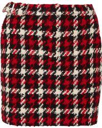 McQ - Wool-blend Bouclé Mini Skirt - Lyst