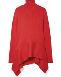 ADEAM - Asymmetric Ribbed Silk-blend Sweater - Lyst