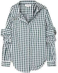 Monse - Asymmetric Gingham Cotton-poplin Shirt - Lyst