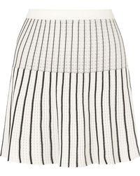 Sonia Rykiel - Striped Knit Miniskirt - Lyst