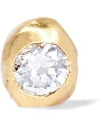 Wwake - Nugget 10-karat Gold Diamond Earring - Lyst