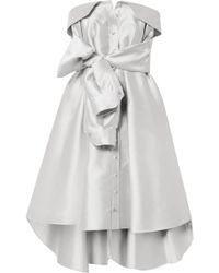 Alexis Mabille - Bow-detailed Satin-twill Mini Dress - Lyst