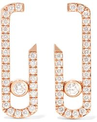 Messika - Move Addiction 18-karat Rose Gold Diamond Earrings - Lyst