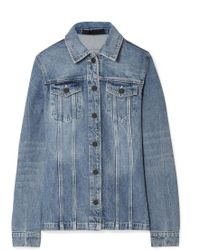 Alexander Wang - Paneled Denim Jacket - Lyst