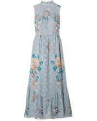 Anna Sui - Fil Coupé Silk-blend Midi Dress - Lyst