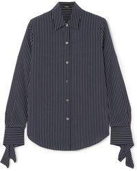 Theory - Striped Silk Shirt - Lyst