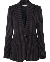 Stella McCartney - Pinstriped Wool-twill Blazer - Lyst