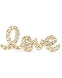 Sydney Evan - Love 14-karat Gold Diamond Earring Gold One Size - Lyst