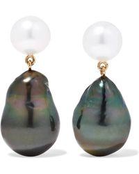 Sophie Bille Brahe - Venus 14-karat Gold Pearl Earrings - Lyst