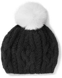 Eugenia Kim - Genevieve Pompom-embellished Cable-knit Baby Alpaca Beret - Lyst