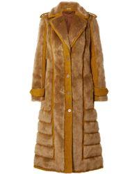 Acne Studios - Faux Fur-trimmed Bouclé Coat - Lyst