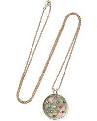 Noor Fares - 18-karat Gray Gold Multi-stone Necklace - Lyst