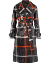 Marc Jacobs - Checked Coated-cotton Trench Coat - Lyst