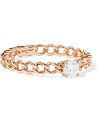 Jemma Wynne - 18-karat Rose Gold Diamond Ring - Lyst