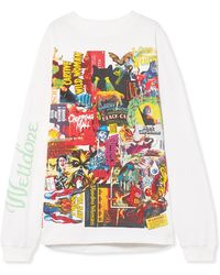 we11done - Oversized Printed Cotton-jersey Top - Lyst