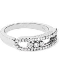 Messika - Baby Move 18-karat White Gold Diamond Ring - Lyst