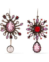 Alexander McQueen - Gold-plated, Crystal And Faux Pearl Earrings - Lyst