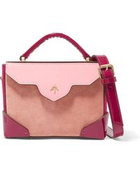 MANU Atelier - Bold Color-block Suede And Leather Shoulder Bag - Lyst