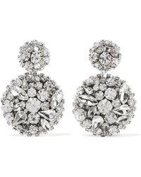 Oscar de la Renta - Swarovski Crystal Clip Earrings - Lyst