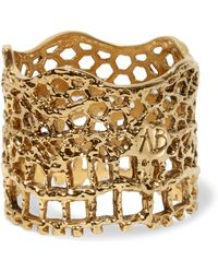 Aurelie Bidermann - Lace Gold-plated Ring - Lyst