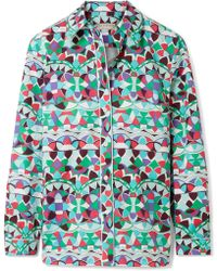 Emilio Pucci - Printed Cotton-poplin Shirt - Lyst