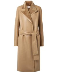 The Row - Cintry Shearling Trench Coat - Lyst