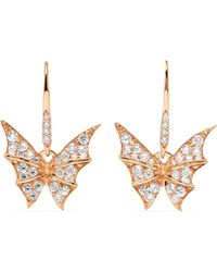 Stephen Webster | Fly By Night 18-karat Rose Gold Diamond Earrings | Lyst