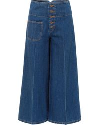 Marc Jacobs - Cropped High-rise Wide-leg Jeans - Lyst