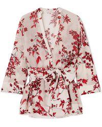 49af08af2cbab Alice + Olivia - Rosario Floral-print Devoré Silk-blend Chiffon Wrap Top -