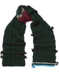 Prada - Tasseled Wool Scarf - Lyst