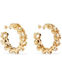 Rosantica - Ingranaggio Gold-tone Pearl Hoop Earrings - Lyst