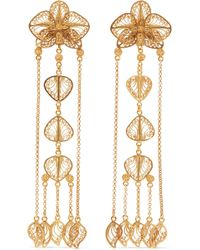Mallarino - Orquídea Gold Vermeil Earrings - Lyst