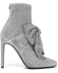 Giuseppe Zanotti - Natalie Embellished Glittered Stretch-knit Sock Boots - Lyst