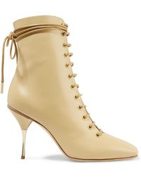 Petar Petrov - Stella Lace-up Leather Ankle Boots - Lyst