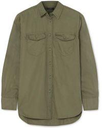 J.Crew - Oversized-hemd Aus Baumwoll-twill - Lyst