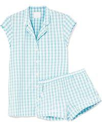 Three J Nyc - Olivia Printed Cotton-voile Pyjama Set - Lyst